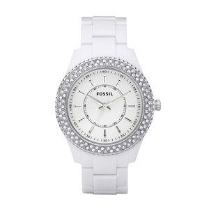 FOSSIL Glitz White Resin Ladies Watch ES2444